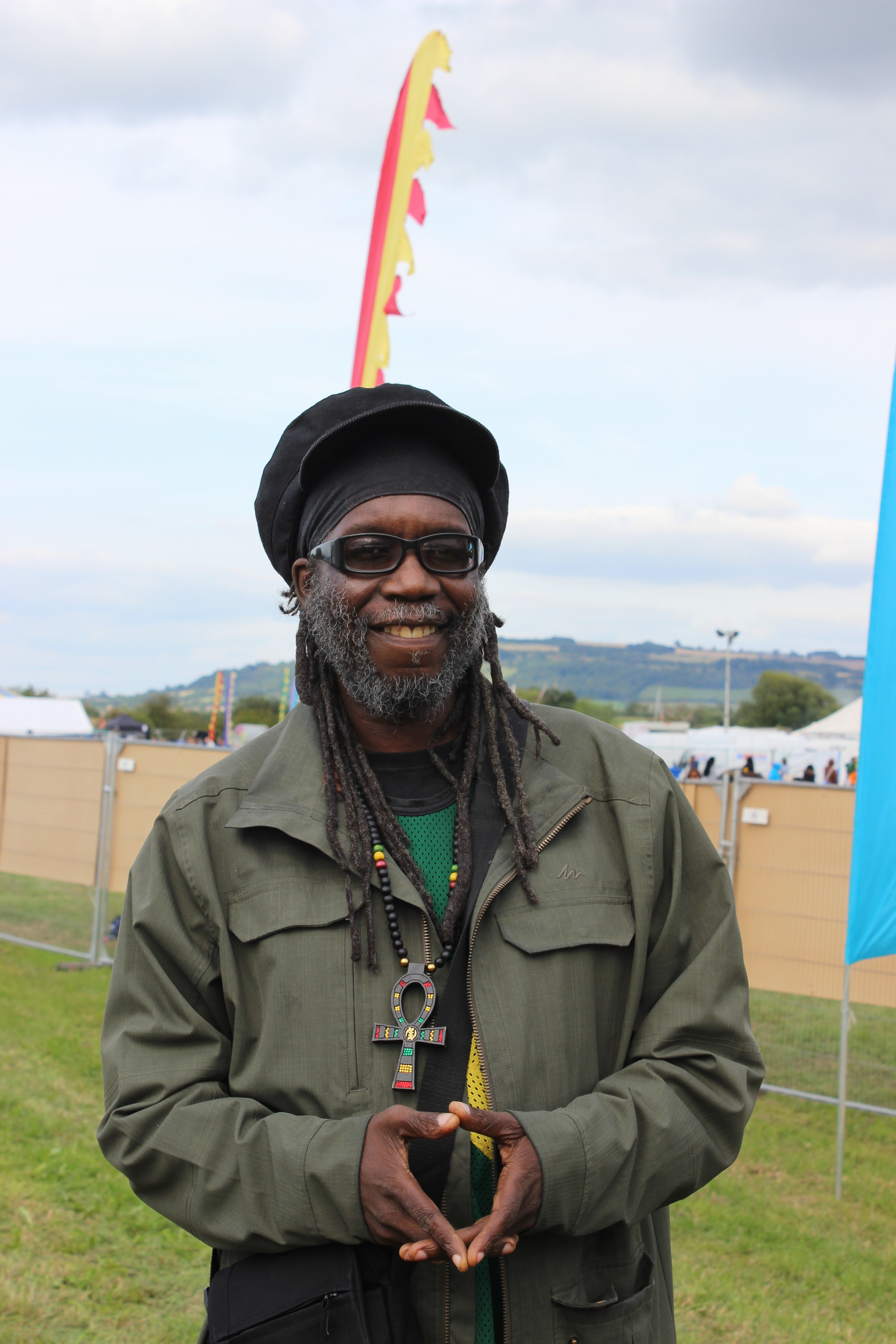 Macka B backstage at One Love Festival 2015