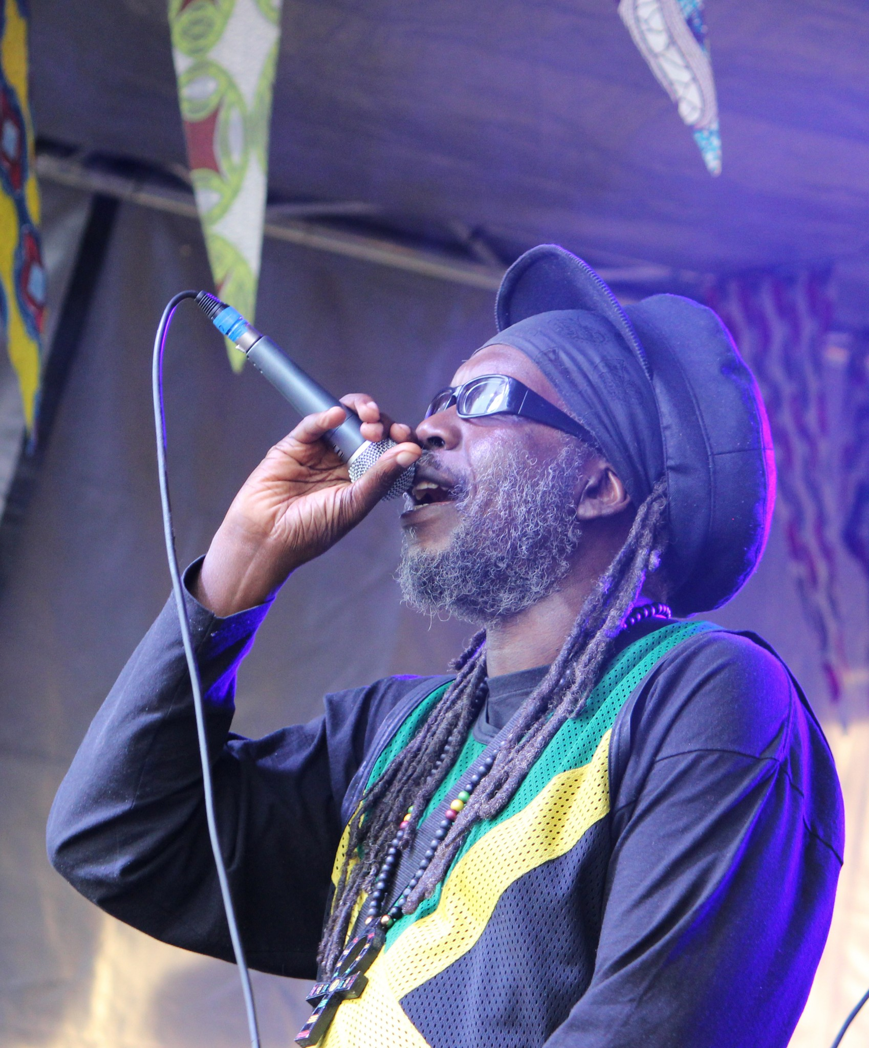 Macka B on stage at One Love 2015
